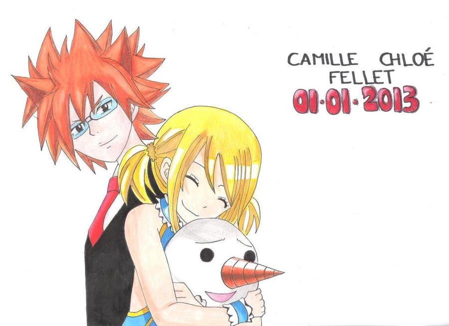 Loki, Lucy Heartphilia and Plue (Fairy Tail) by CobraxKinana