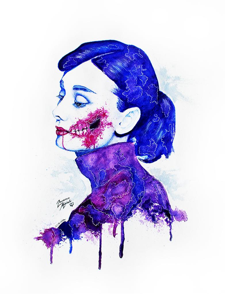 Audrey Hepburn - Zombie by Woodstockowa