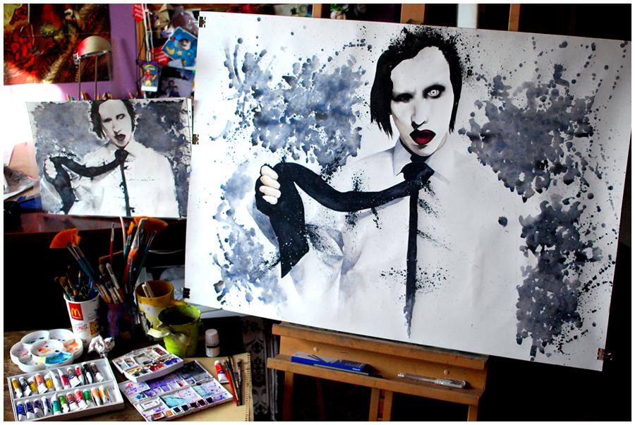 Marilyn Manson by Woodstockowa