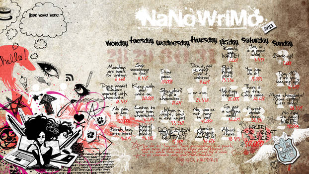 NaNoWriMo 2013 Calendar