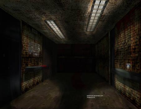 Corredor del CCI estilo Silent Hill