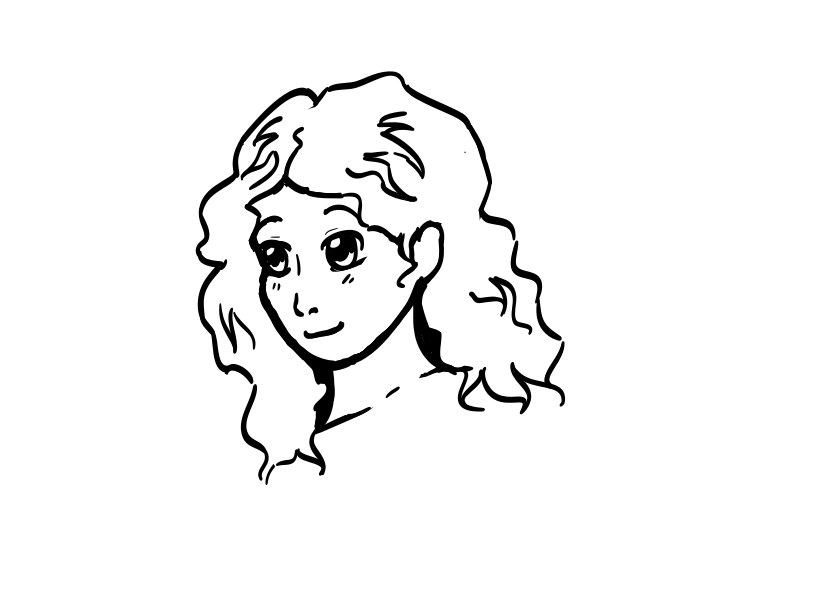 Drawing of a Little Girl With Curly Hair Girl With Curly Hair Sketch by