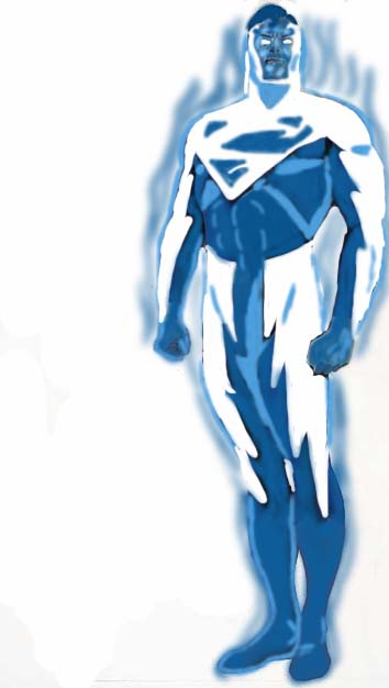 Blue Lightning Superman by paul626