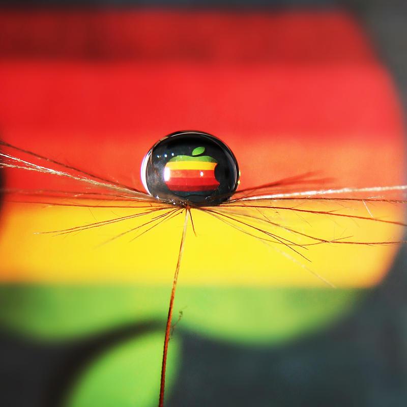 Rainbow Apple by Kara-a