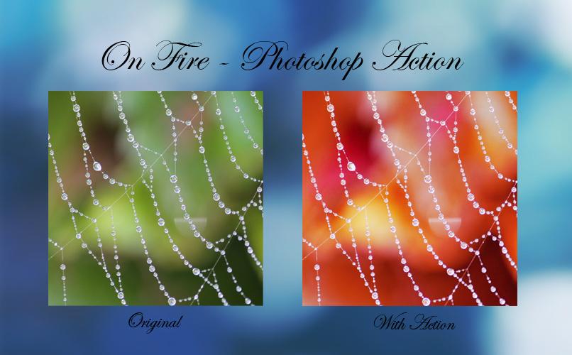 on fire photoshop action by kara a on deviantart. Black Bedroom Furniture Sets. Home Design Ideas
