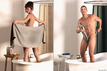 The difference between men and women! by Edheldil3D