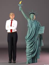 DAZPlay Costumes: Trump and Miss Liberty