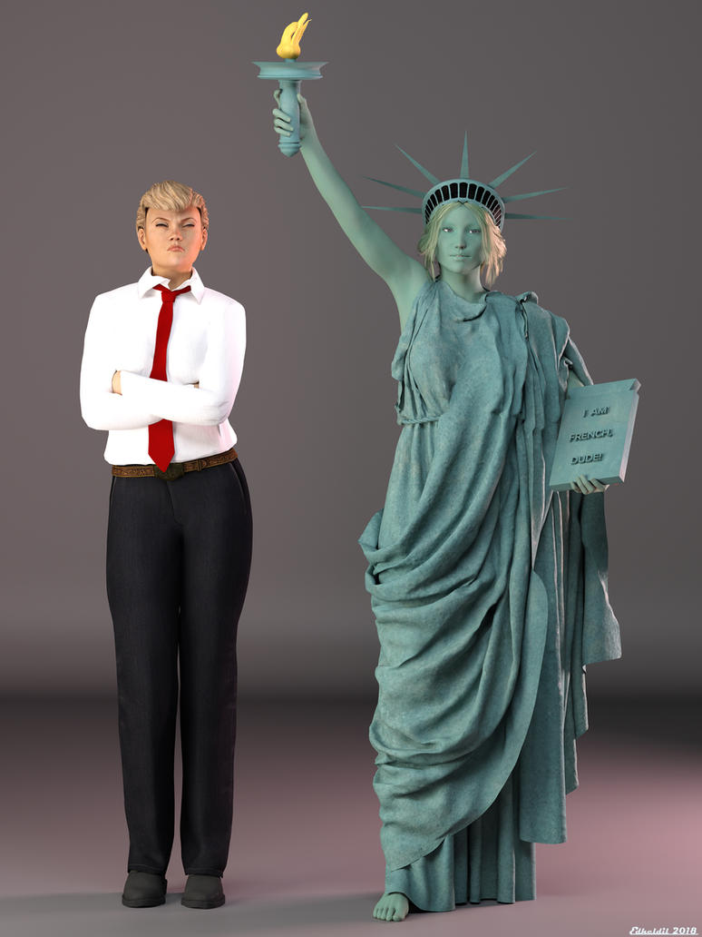 DAZPlay Costumes: Trump and Miss Liberty by Edheldil3D