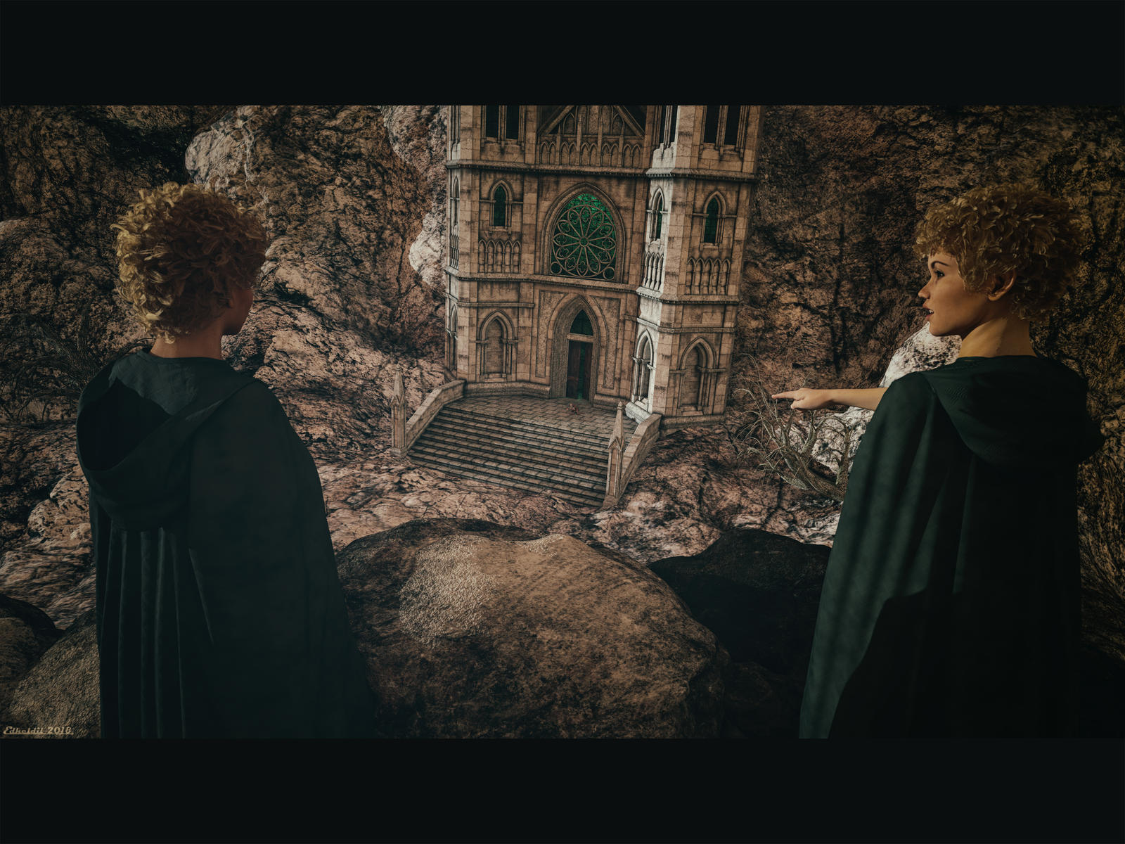 Sneaky Little Hobbitses! by Edheldil3D