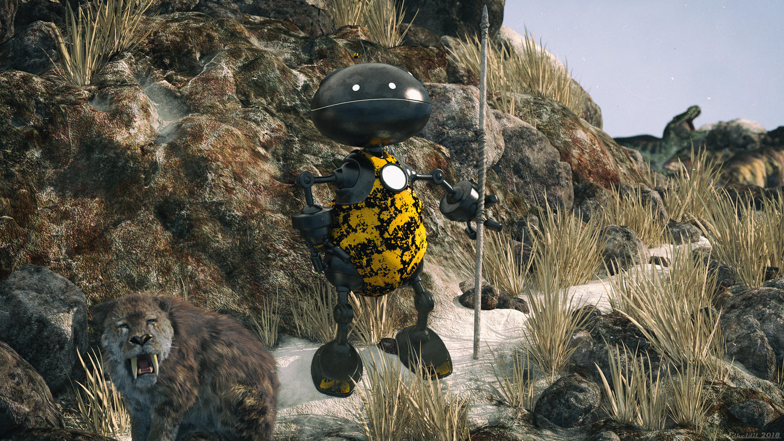 Clank - The Prehistoric Robot by Edheldil3D