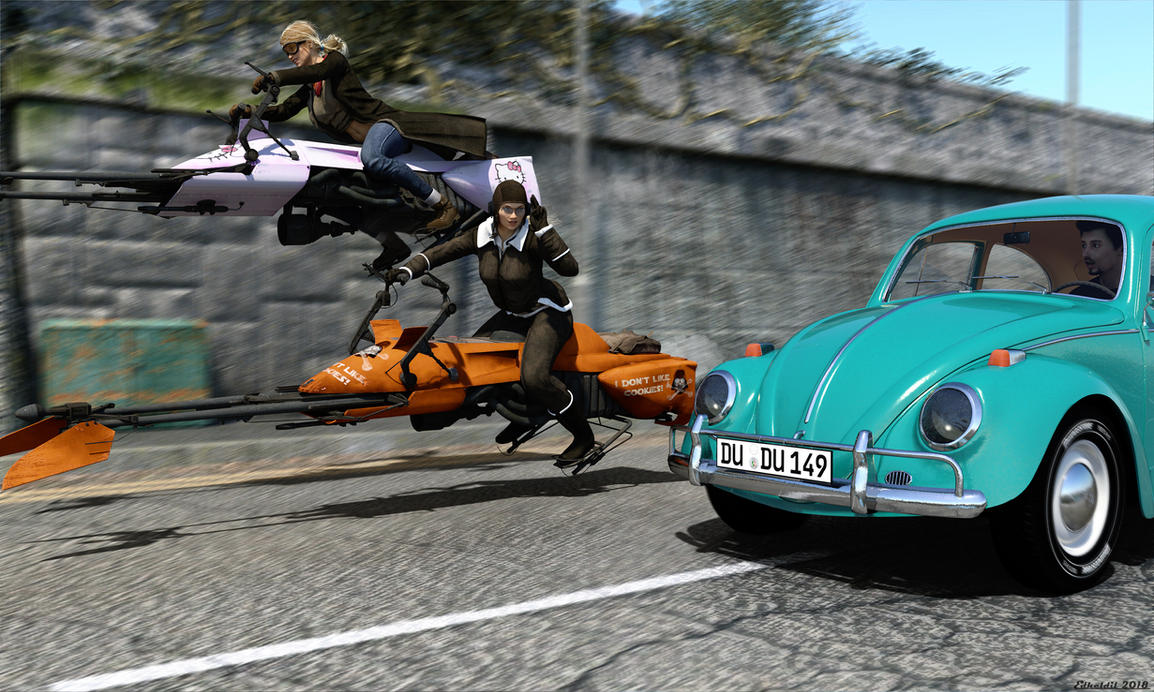 Speedergirls by Edheldil3D