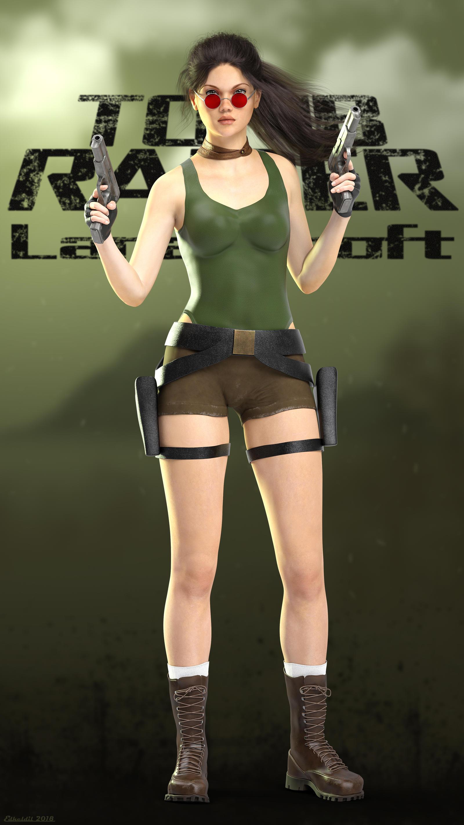 DAZPlay: Lara Croft by Edheldil3D