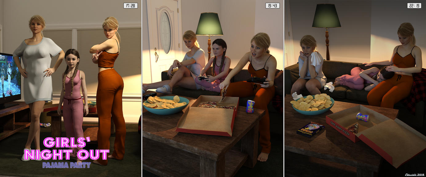 Girls Night Out - Pajama Party by Edheldil3D