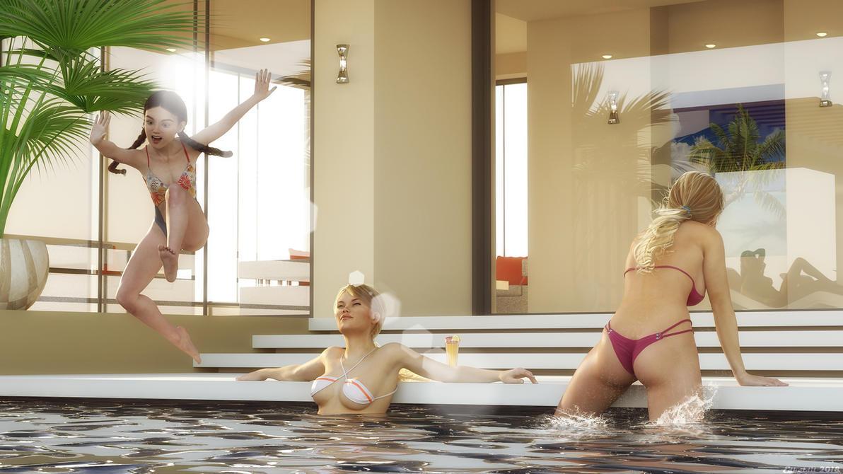 Bathing Fun by Edheldil3D