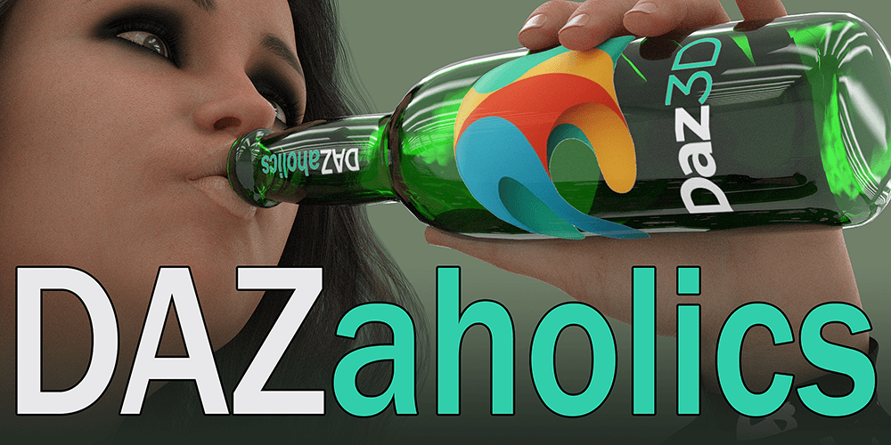 DAZaholics Logo by Edheldil3D