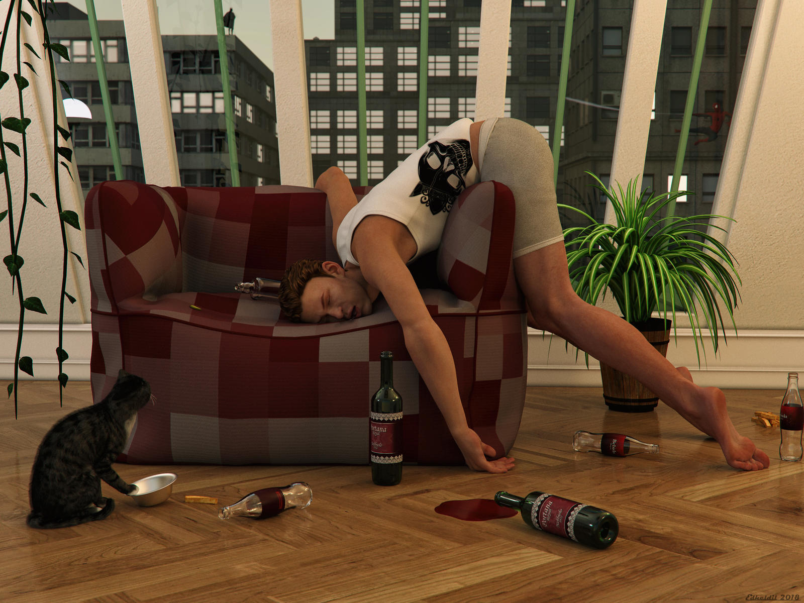 After a long night! (Iray-Version) by Edheldil3D