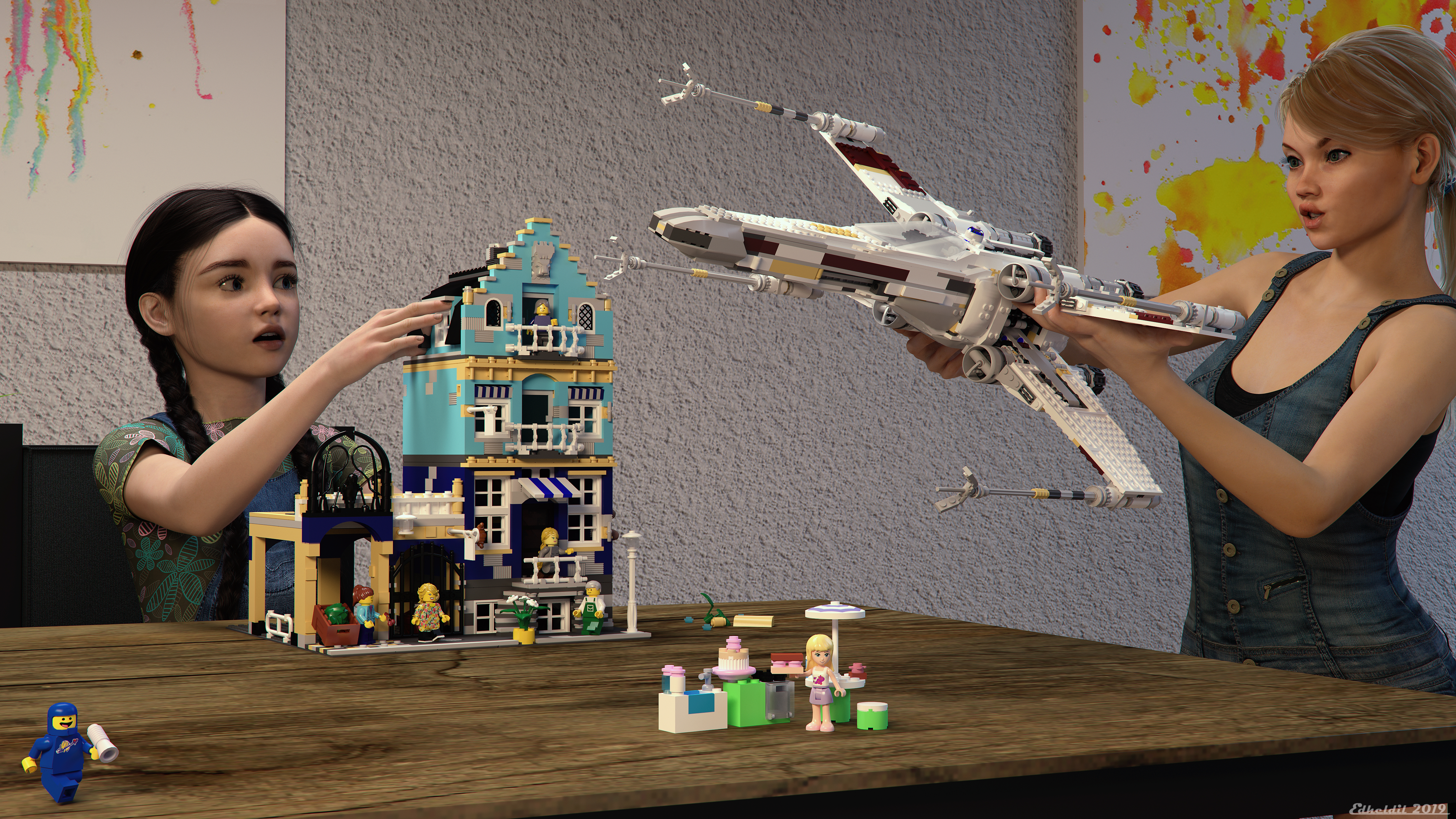 Playing with Lego by Edheldil3D