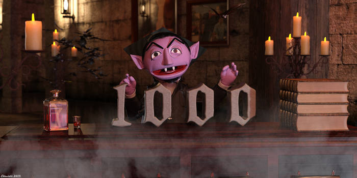 The Count has counted! 1000+ by Edheldil3D