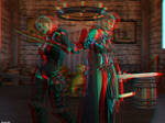 Dragon Guards (anaglyph) by Edheldil3D