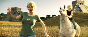 Llamas are awesome! by Edheldil3D