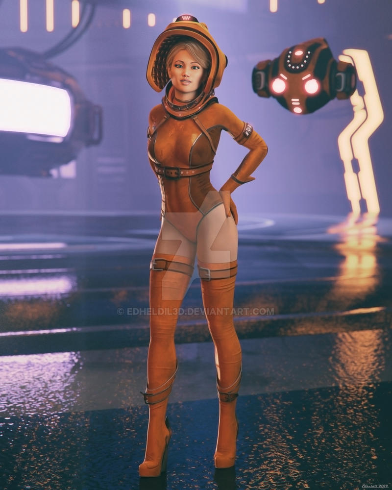 PinUp: Doro Spacesuit by Edheldil3D