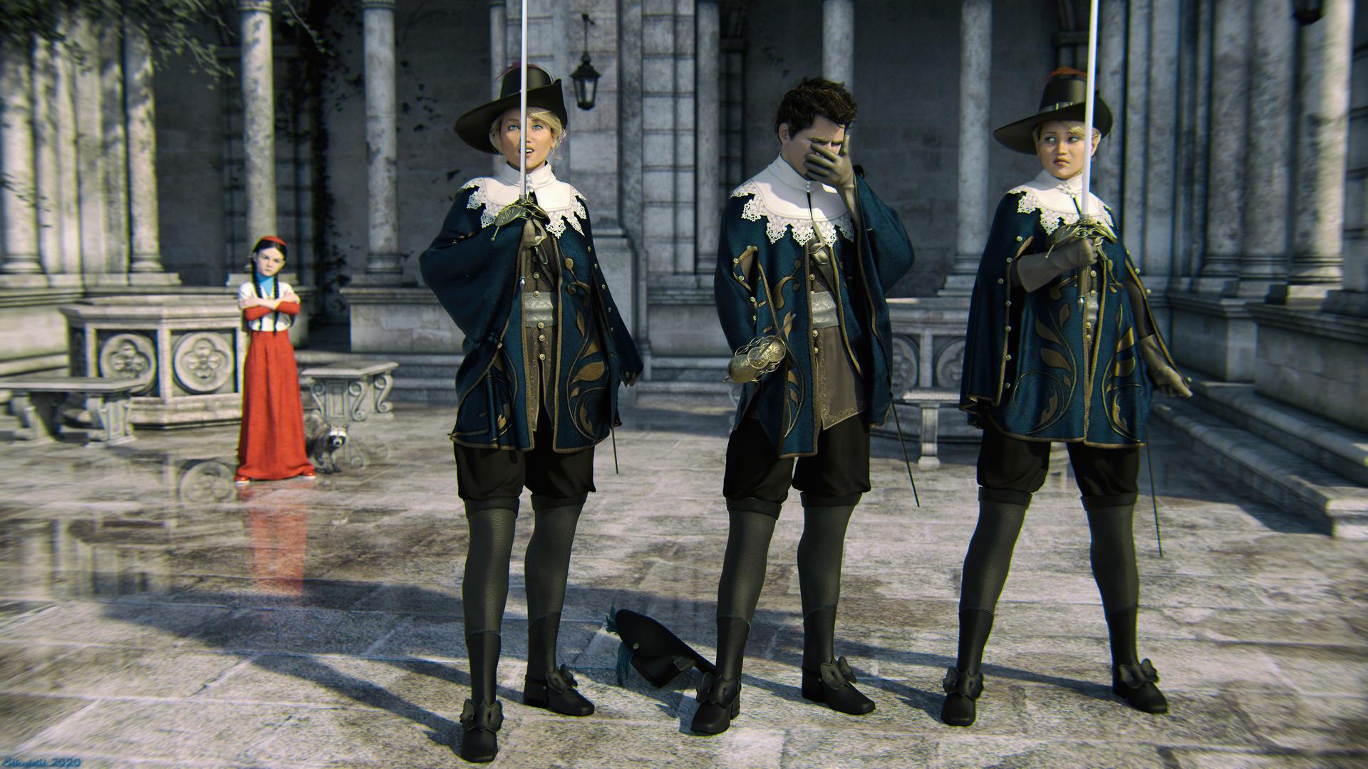 Athos, Porthos, and ... do'h!