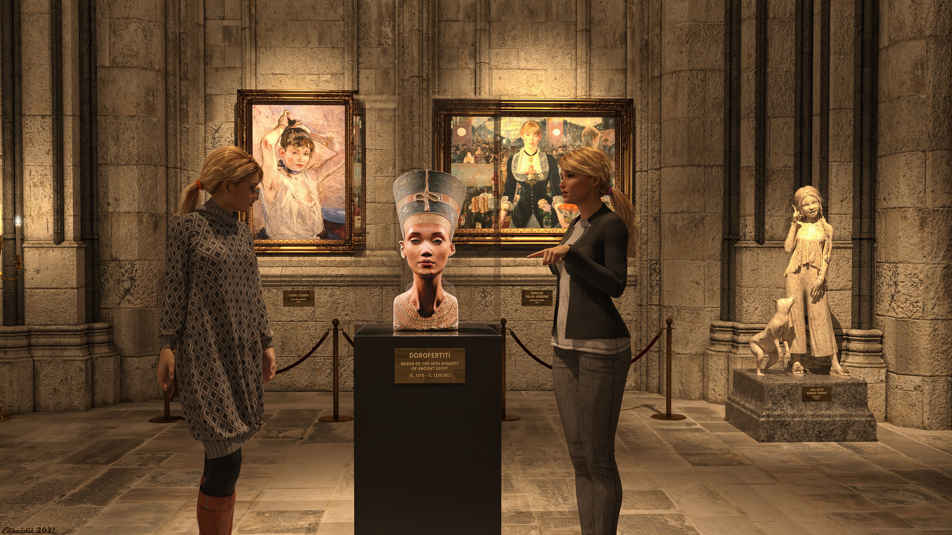 Night at the museum: Ancient Sisters!