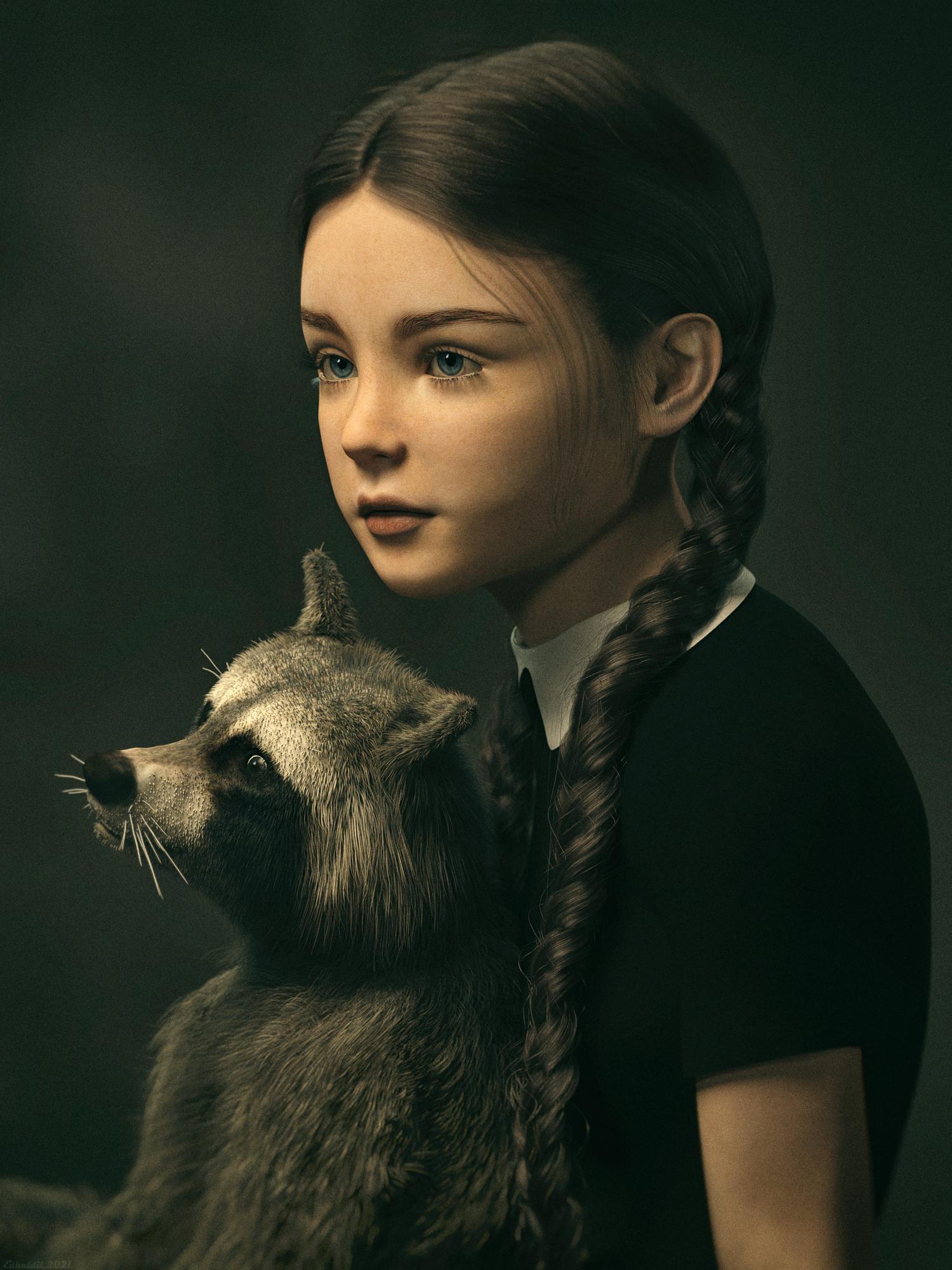 Joy And Scrubby Portrait