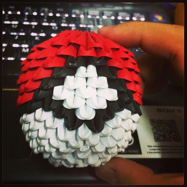 Origami 3d Pokeball By Javzhang On Deviantart