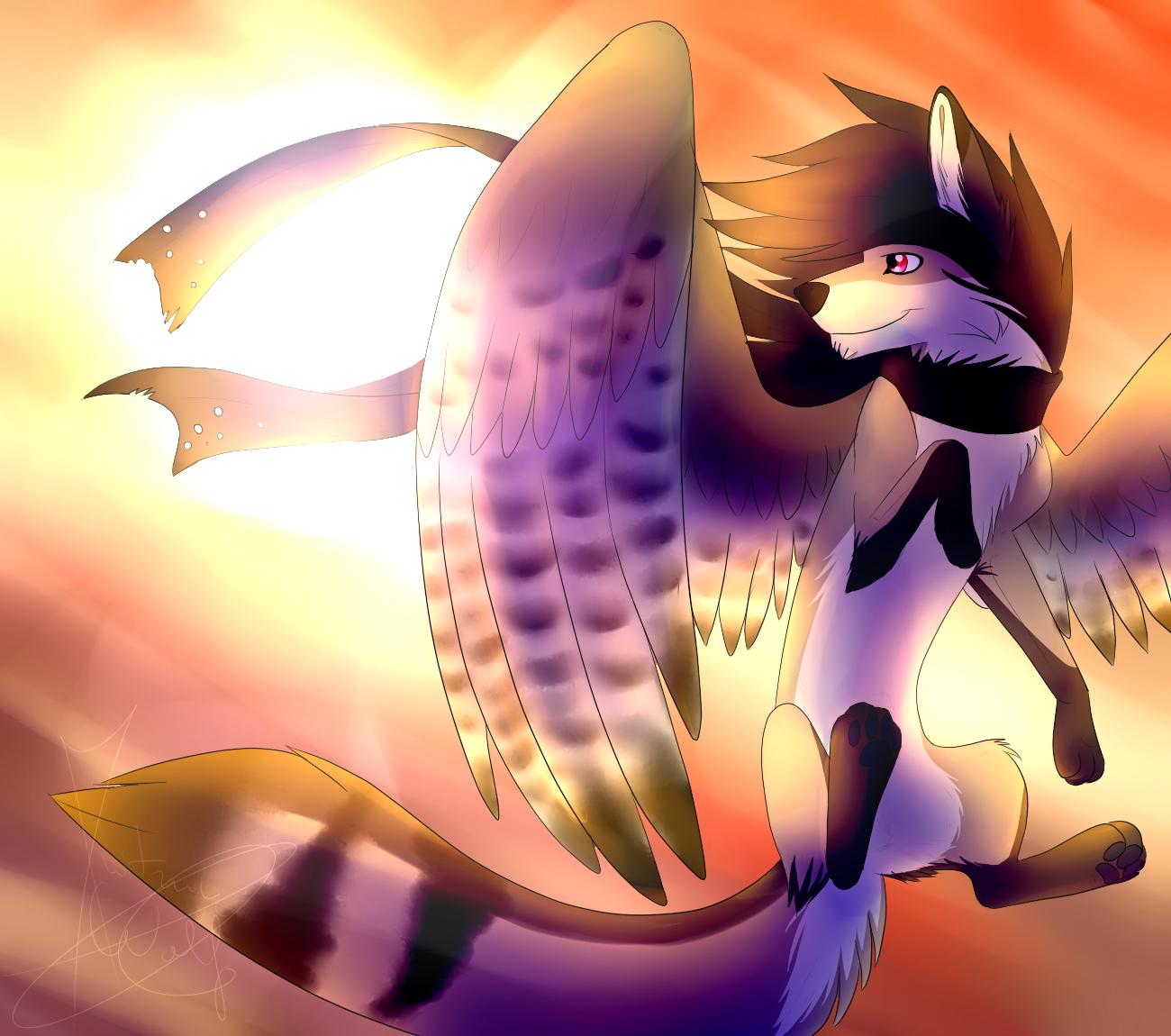 Artista de Devian-Art: Mitsuki-Wolf. *w* - Página 3 Sun_and_wings_by_mitsuki_wolf-d7bc9rj
