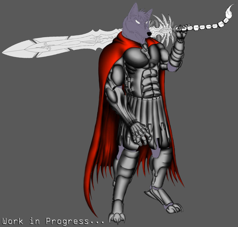 Sorcerer of Battle v2 - My First.OC - W.I.P by Unreal-Forever