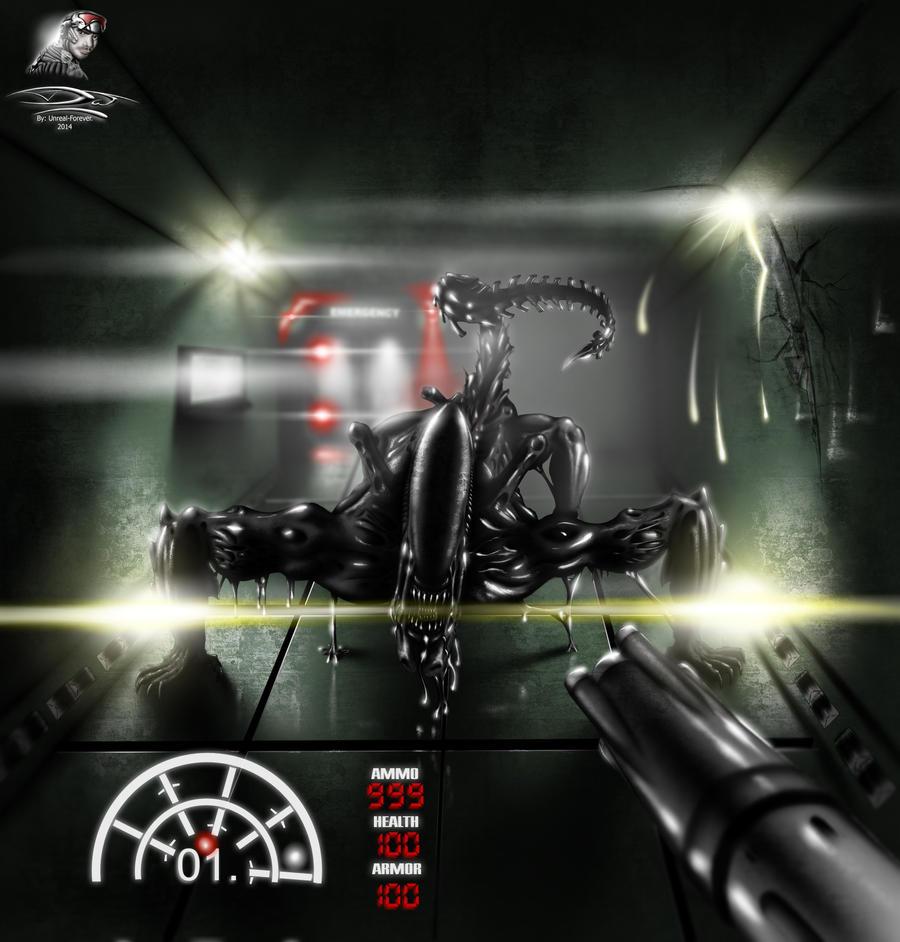 Alien vs Predator 2001 - Remaster 2014 by Unreal-Forever
