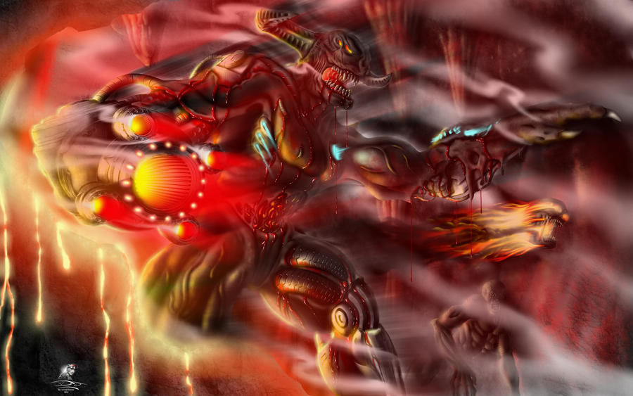 DOOM - Hell is Coming - CyberDemon Remastered 2014 by Unreal-Forever