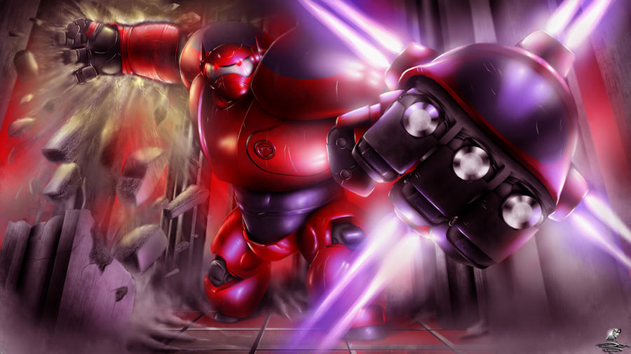 Do it Baymax, Destroy him! by Unreal-Forever