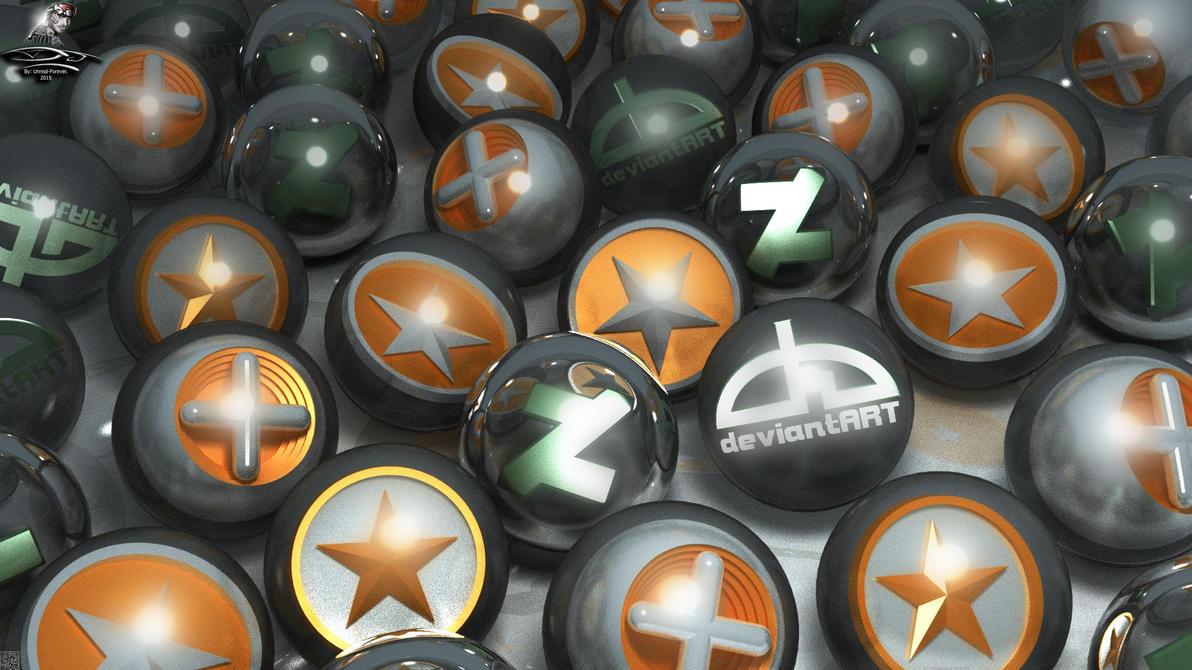 Some DeviantART logos (3D GPU render) by Unreal-Forever