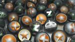 Some DeviantART logos (3D GPU render)