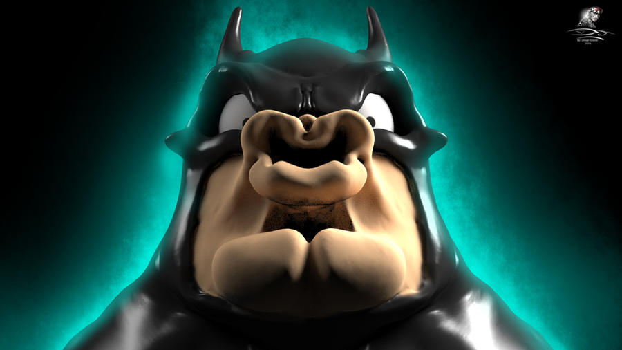 BatMetal - So strong my face is (3D Render) by Unreal-Forever