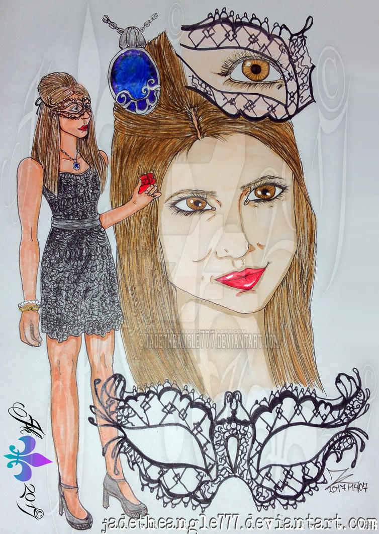 Katherine Pierce Marquerade Drawing by JadeTheAngle777