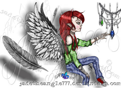 Angelic Dreamer-Digital Colored