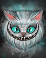 Cheshire Cat in fog