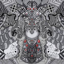 The giraffe zentangel  procreate artwork