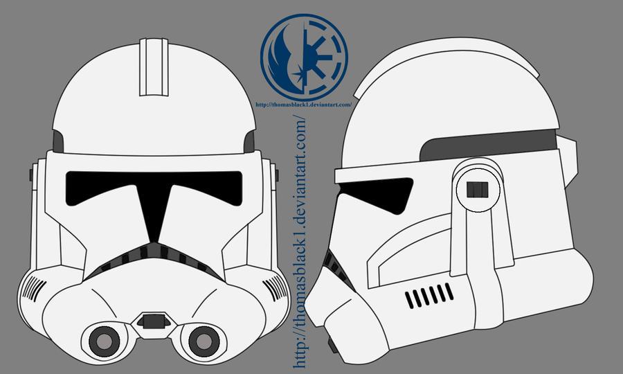 Clone Trooper Helmet Vector Phase II Helmet by