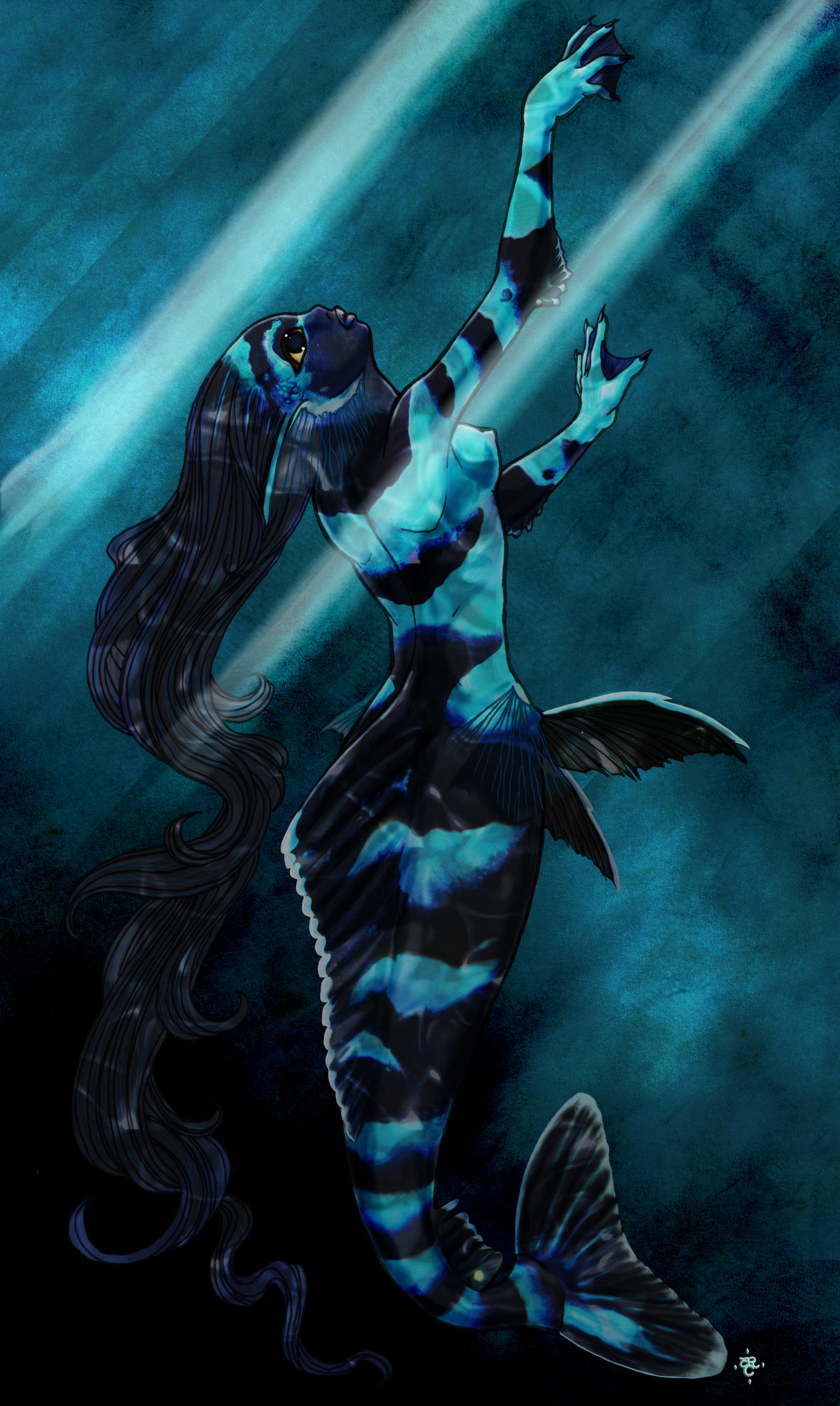 Deep Sea Mermaid by tarorae on DeviantArt