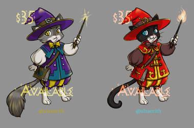 Adoptable: Wizard Cat series by tarorae