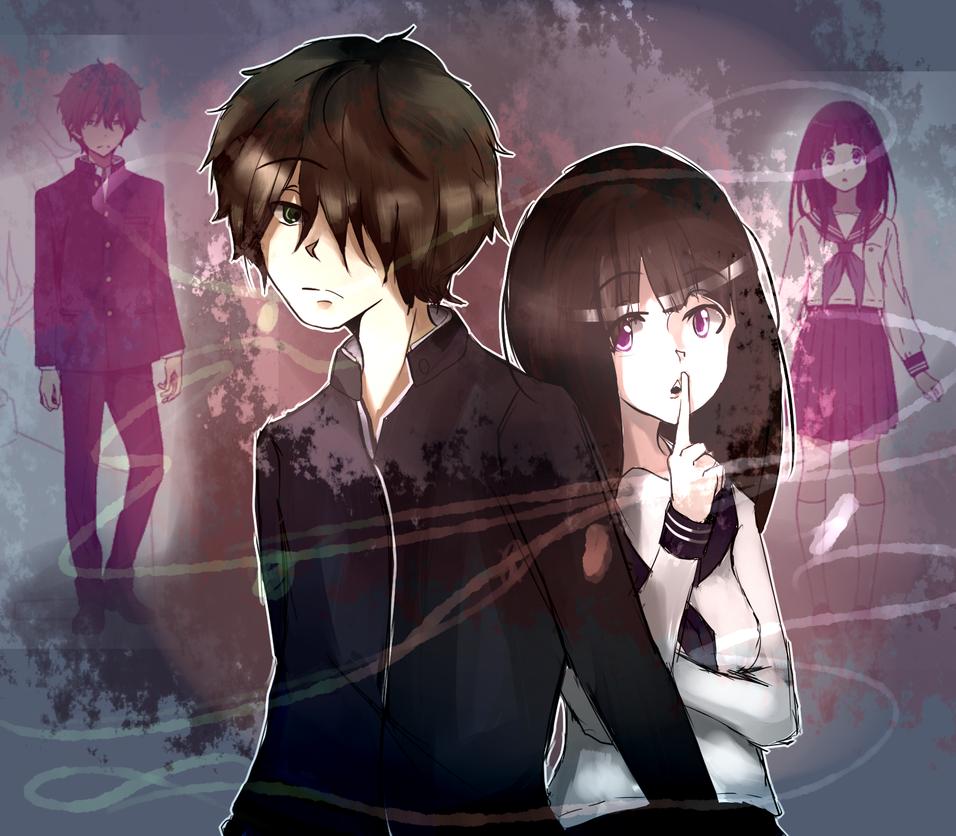 [Request] Oreki and Chitanda by HiroSuji
