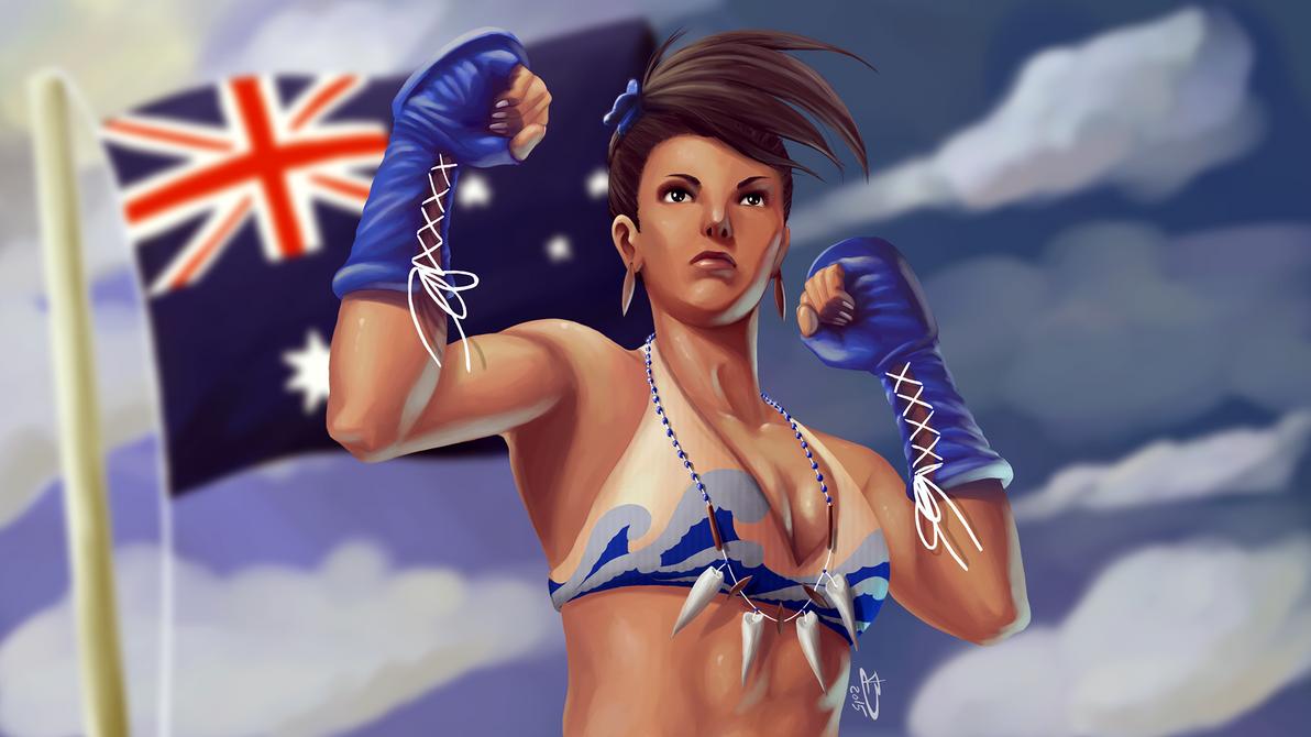 Callie, the Australian freefighter by Callilf