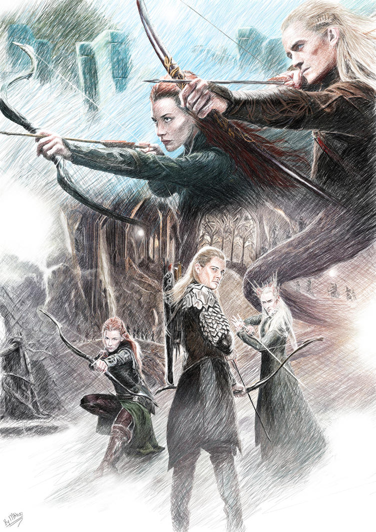Legolas and Tauriel by Acxaron on DeviantArt