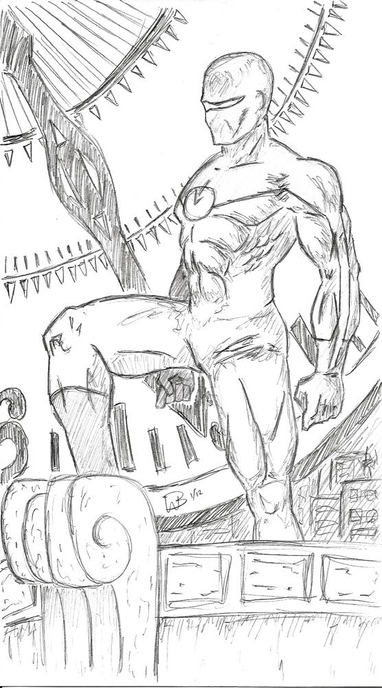 Super Hero Clock sketch by VulcanEnki