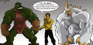 Mugato, Gorn and, Kirk by Misterho