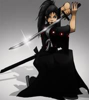 Model Sheet 2 : Samurai Girl by Misterho